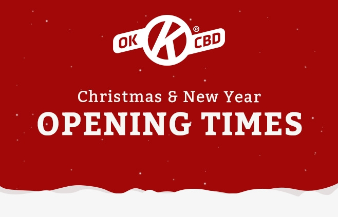 OK CBD Christmas & New Year Opening & Dispatch Times Blog Header