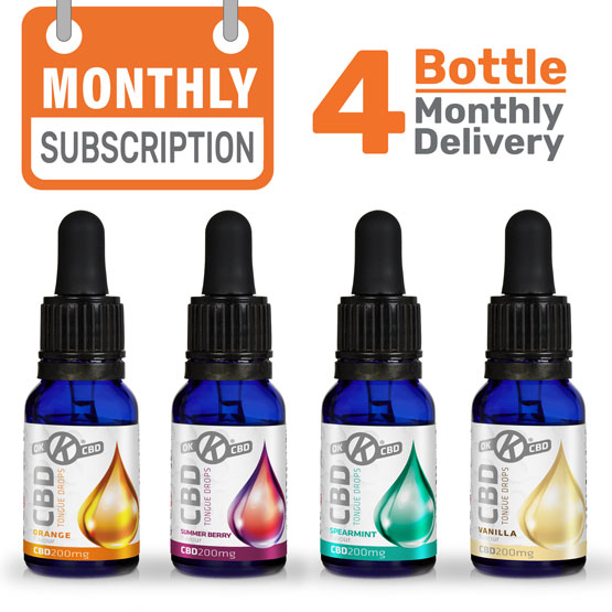 4 x CBD Oil Monthly subscription