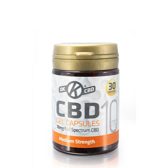 10mg Strength CBD Capsules - Tub of 30