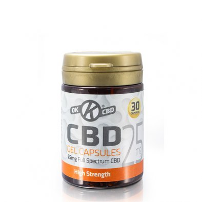 25mg Strength CBD Capsules - Tub of 30