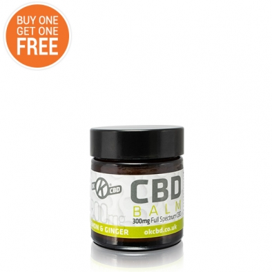 Lemon & Ginger CBD Balm (Buy One Get One Free)